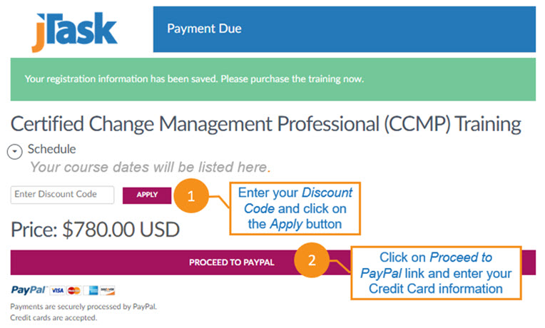 jTask CCMP Training Discount Code Image
